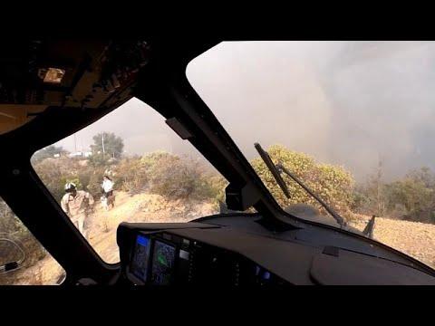 شاهد: فرق الإغاثة تنقذ ثلاثة أشخاص وكلبيْن من حرائق كاليفورنيا بطريقة بطولية …  - نشر قبل 13 ساعة