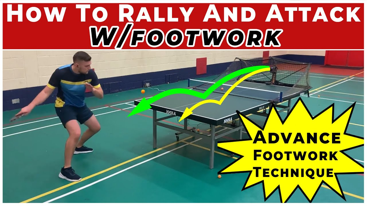 How to RALLY & ATTACK with ADVANCE Footwork technique  Table Tennis / Ping Pong  Forehand & Backhand