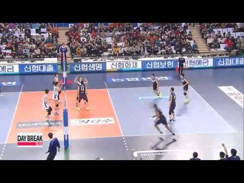 V-League, Hyundai Capital vs Samsung Hwajae