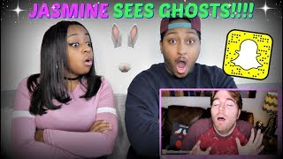 "JASMINE'S SNAPCHAT GHOST STORY!!! | SHANE DAWSON ""SCARIEST SNAPCHATS EVER"" REACTION!!!"