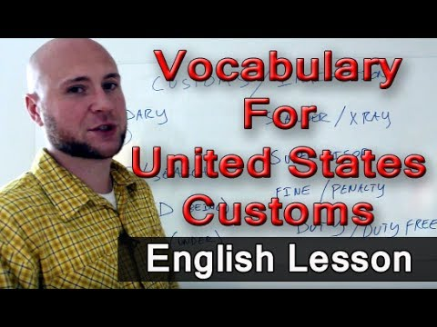 English Lesson - United States Customs Check When Entering USA At The Airport