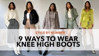 9 Ways to Style Knee High Boots | Style by Number | Song of Style Collection | Aimee Song
