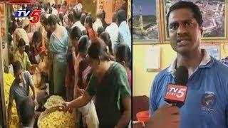 Whole Sale Flower Markets for Diwali In Vijayawada | TV5 News