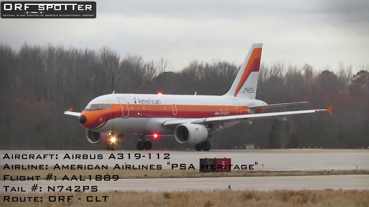 American Airlines Airbus A319 Quot Psa Quot Departing Runway 5 At