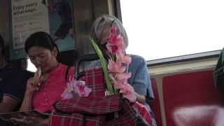 Lady Falling Asleep on Someone on the New York Metro - Funny