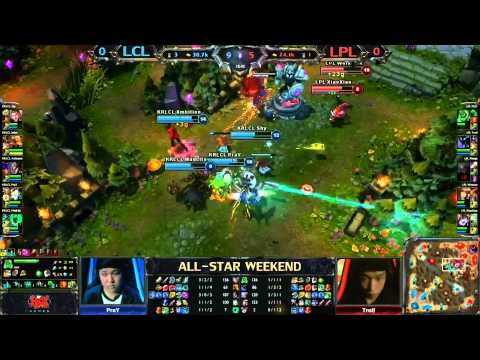 2013 ALL-STAR League of Legends final game Korean LCL vs Chinese LPL game 1