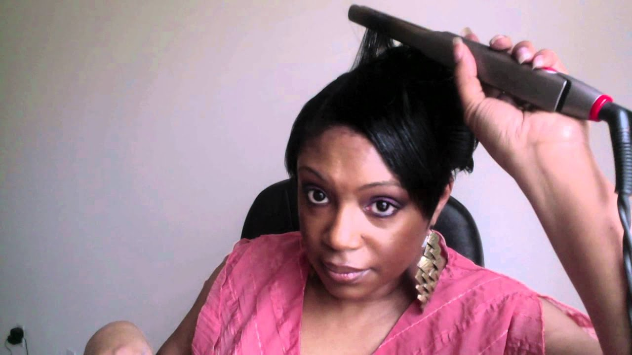 Mary J Blige Inspired Short Hair Tutorial Fauxhawk Youtube