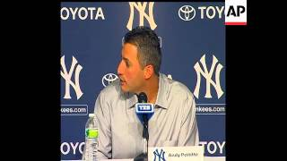 Andy Pettitte has announced his retirement at Yankee Stadium. With wife Laura sitting at his side at