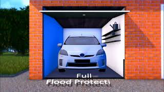 Flash Flood Garage Door, flood proof garage door, flood resistant garage door, tested