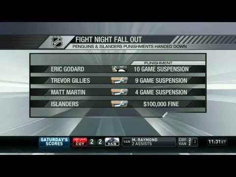 NHL On The Fly Discusses Islanders-Penguins Brawl - NHL Network Feed