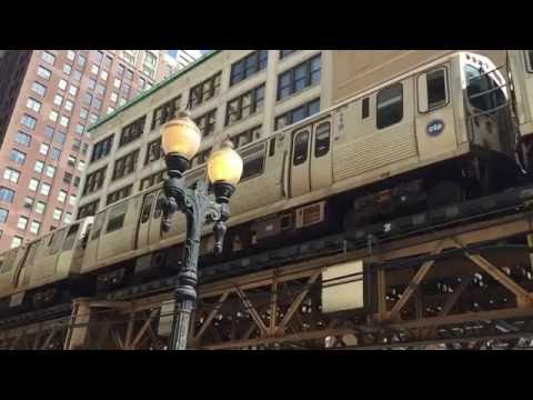 CTA green line in a slow motion