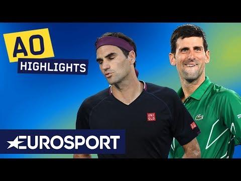 Novak Djokovic Vs Roger Federer Extended Highlights | Australian Open 2020 Semi Finals | Eurosport