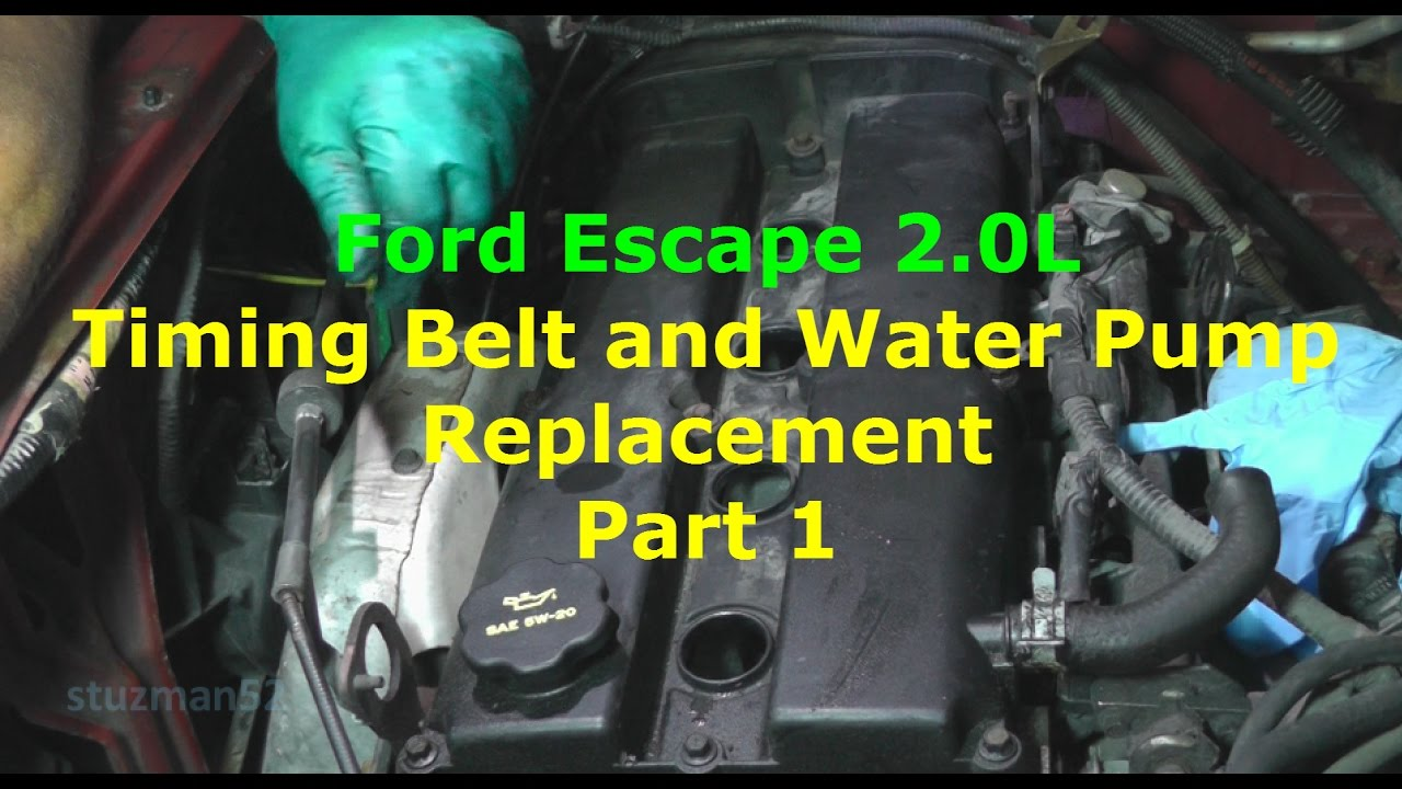 ford escape timing belt and water pump replacement part 1 youtube 2001 cadillac cts engine diagram 2001 mazda tribute engine timing diagram pdf #37