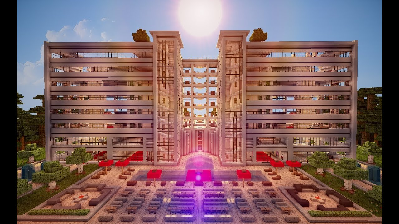 Minecraft Cinematic Huge Luxury Hotel HD DOWNLOAD