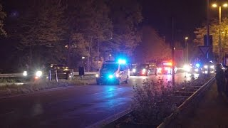 US President Obama motorcade at night | Secret Service & and Police Escort in Hannover / Germany