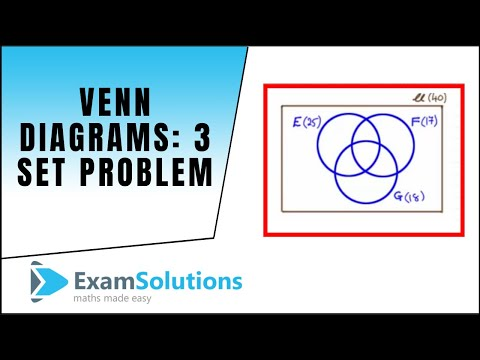 Venn diagrams - Tricky 3 set problem : ExamSolutions Maths Revision