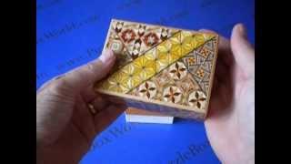 4 Sun 10 Step Koyosegi Japanese Puzzle Box