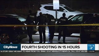 Toronto police investigating 4 shootings in under 15 hours