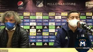 Rueda de prensa MILLONARIOS 6-1 Alianza Petrolera (Liga Beplay 2020)