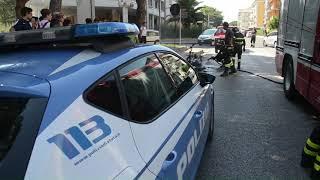 Incendio ciclomotore in via Madonna delle Grazie