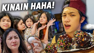 Chocolate Dipped EGG Prank On FAMILY! (Kinain Haha!) | Ranz and Niana