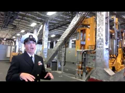 Tour of USS Coronado LCS-4 littoral combat aluminum trimaran ship -3/7