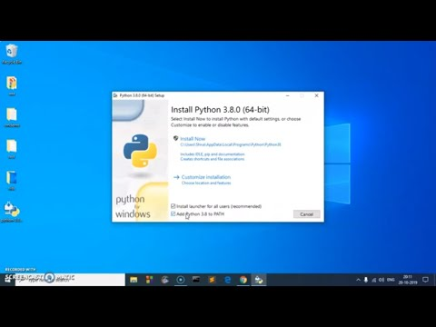 How To Download & Install Python 3 8 On Windows 7/8/10