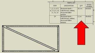 Frame Cut Lists & Good Practice Frame Design/Management |  Autodesk Inventor