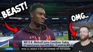 Rugby Player Reacts to D.K METCALF 2019 NFL Combine Workout & Interview!