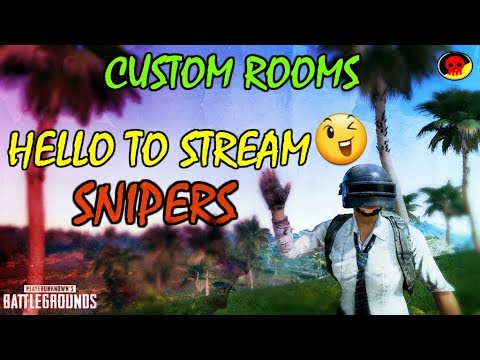 PUBG MOBILE CUSTOMS PE CUSTOMS WITH STREAM SNIPERS | 🔴LIVE #447