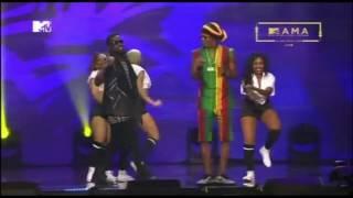 Patoraking Sarkodie Koree Bello YCEE Na Falz Kwenye Stage Ya MTVMAMA2016