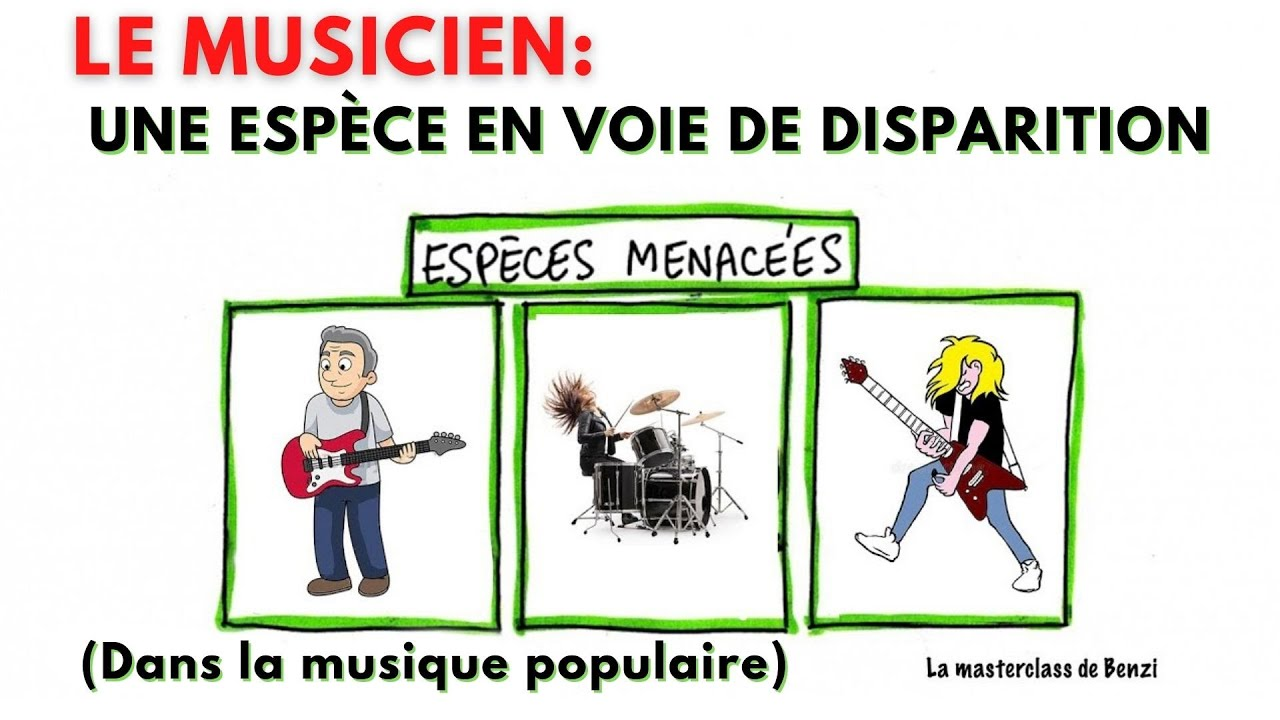 Le musicien: une espèce en voie de disparition dans la musique populaire.