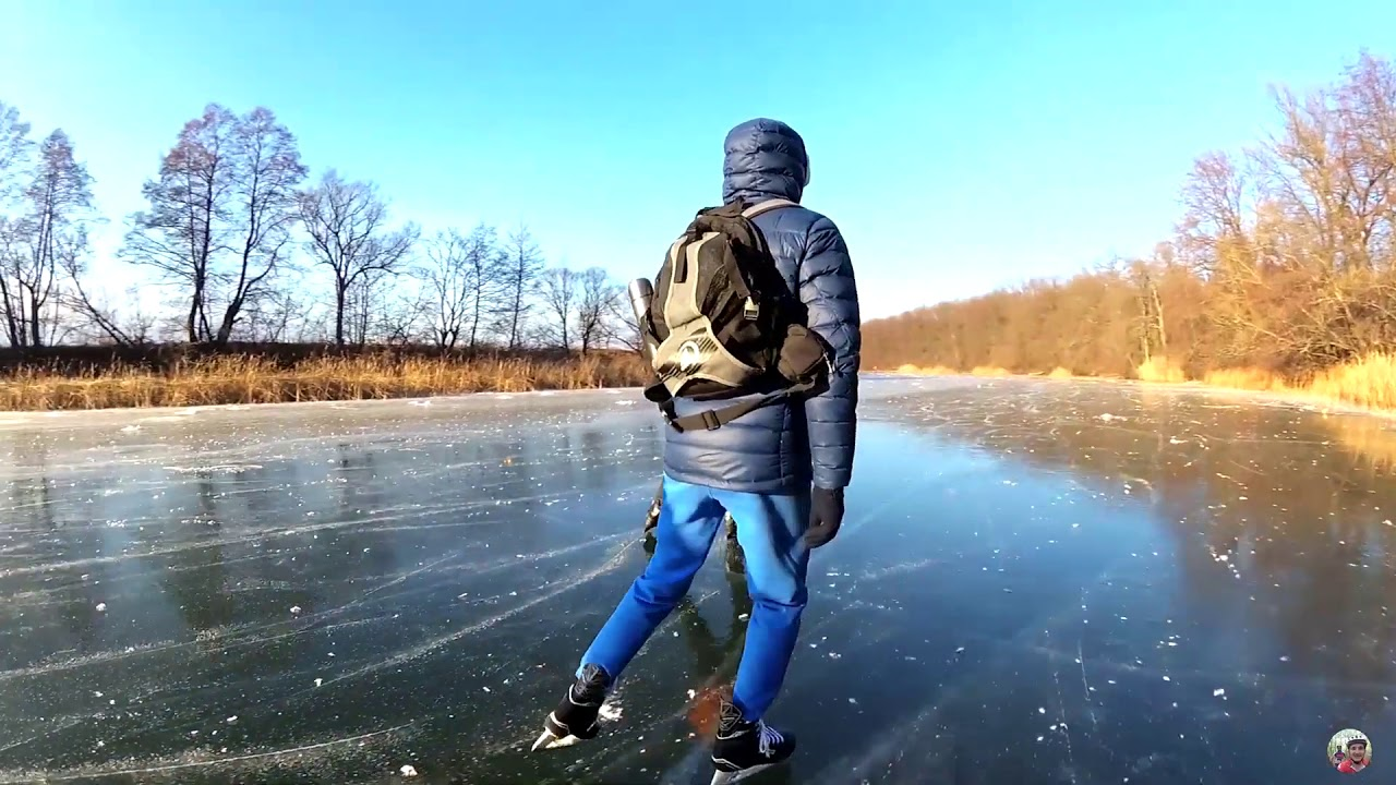 На коньках по реке Тамбова / Ice skating along river in Tambov
