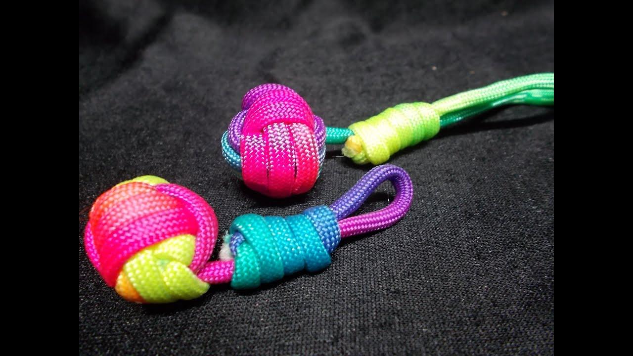 Paracord porte clefs balle weavy loops tuto francais - Comment faire un porte bracelet ...