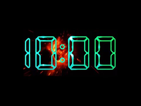 10 Minute Timer No Music With Alarm (Vortex Fire)