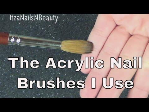 Acrylic Nail Brushes I Use