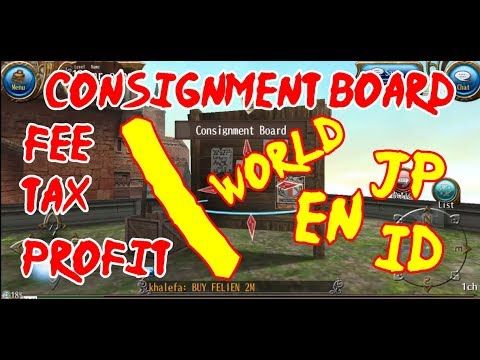Consignment Board and how your World affect it - Toram Online