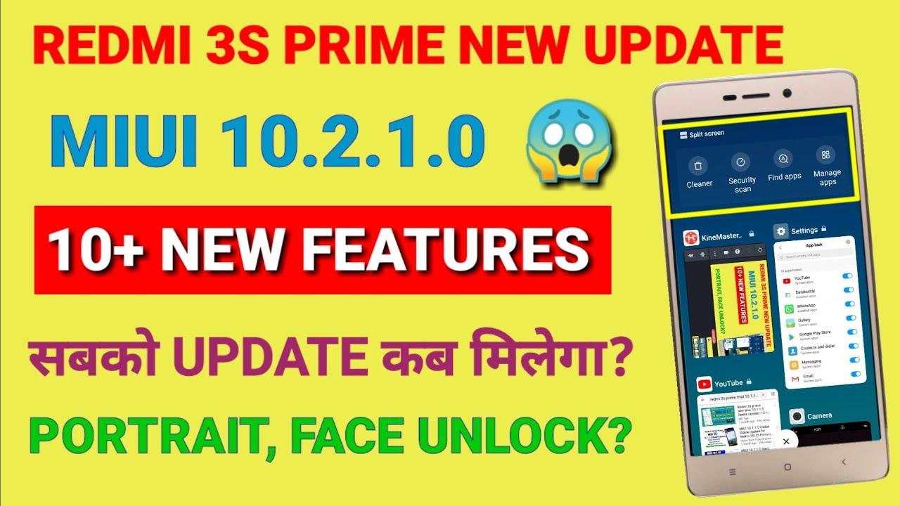Redmi 3s prime Miui 10 2 1 0 new Update | 10 New hidden features | Miui  10 2 1 0 for Redmi 3s