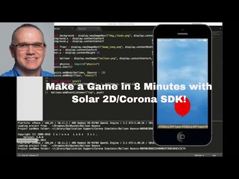 Make A Game In 8 Minutes With Corona SDK/Solar2D