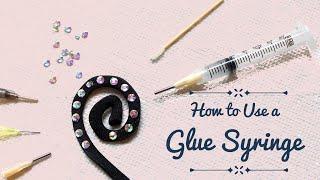 How to Use a Glue Syringe - glue applicator syringe for rhinestones