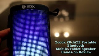 Zoook ZB-JAZZ Portable Bluetooth Speaker Hands-on Review