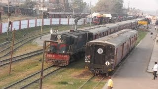Cachar Exp. departs from Badarpur towards Silchar (Feb. 26, 2013)