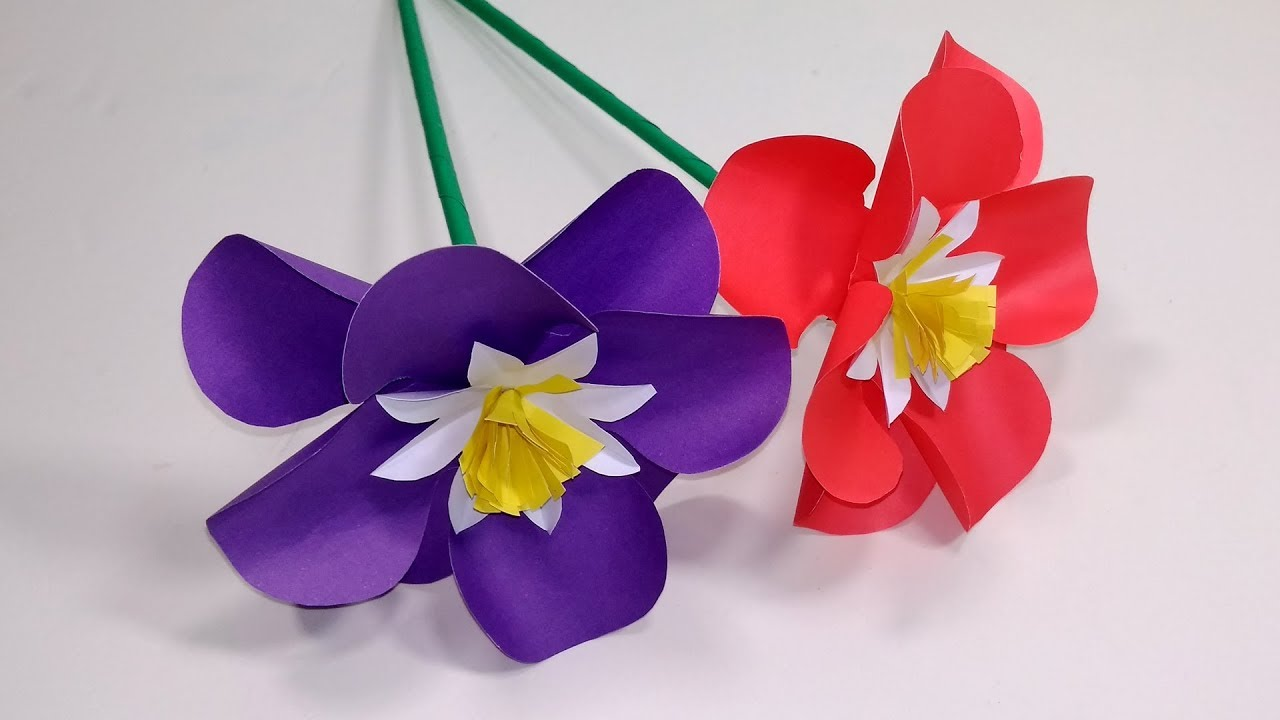 Paper flowersstick flower craft ideas with paper stick flower paper flowersstick flower craft ideas with paper stick flower handcraft jarines crafty creation mightylinksfo