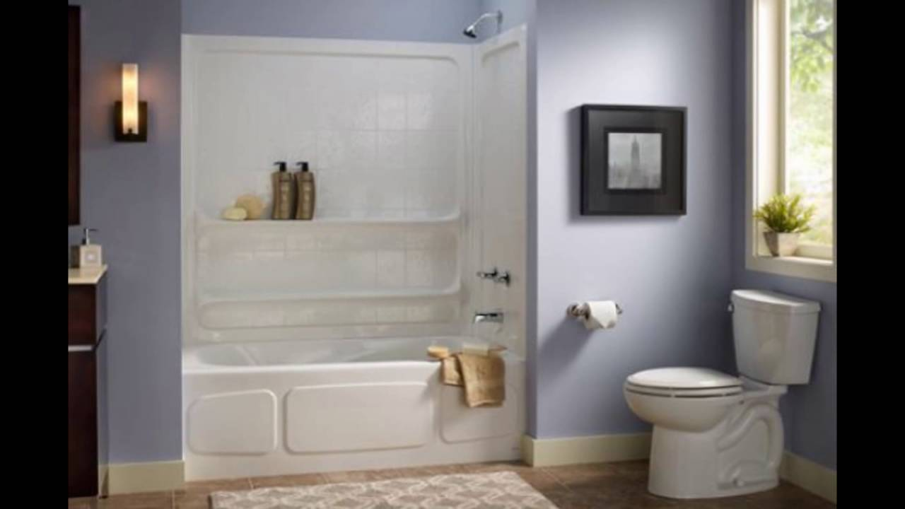 standard bathtub and shower combo - YouTube