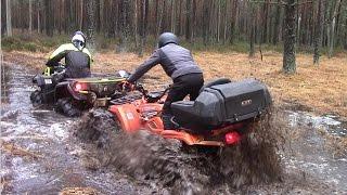Квадро спор BRP vs CFMOTO гряземес квадроциклов. Часть первая вода!