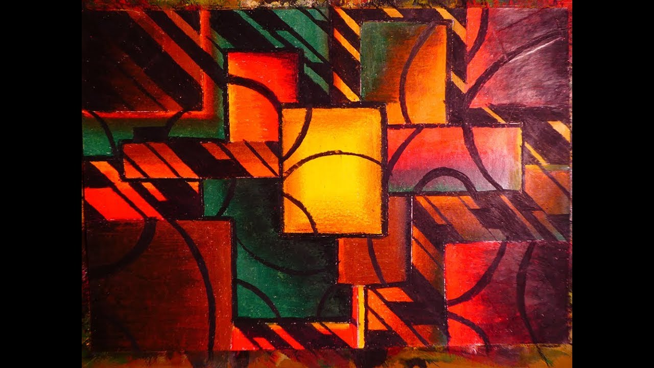 Learn To Paint Easy Modern Cubism Abstract Art Pastel Colors