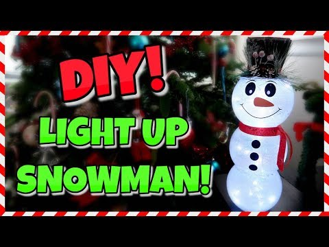 How To Make A Light Up Glass Snowman | Dollar Store DIY 📍 How To With Kristin
