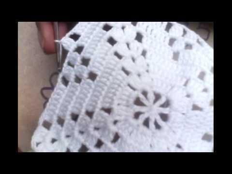 Ganchillo Tejer Cuadro Para Cobija O Colcha Parte 2 Youtube