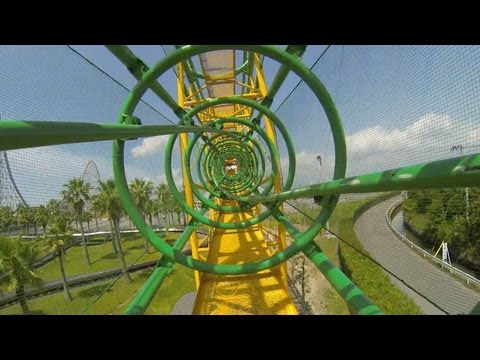 Ultra Twister Roller Coaster POV Nagashima Spaland Japan Togo Heartline Coaster
