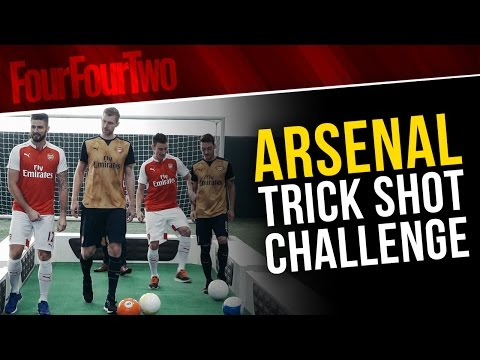 Footpool Trick Shot Challenge: Arsenal Players Go Head-to-head